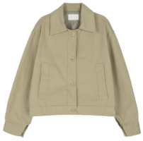 Cotton twill button-up jacket 夾克外套