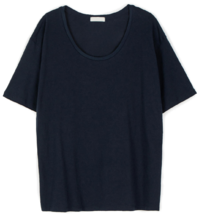 Soft over round neck T-shirt