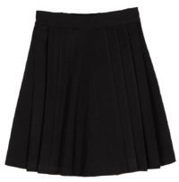 Preppy pleated mini skirt