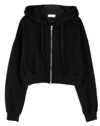Leeds two-way hooded zip-up sweatshirt