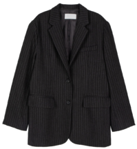 Men's striped pattern blazer