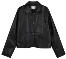 Tom three-button short leather jacket jacket