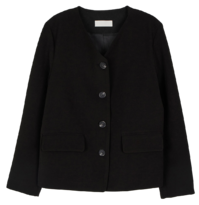 Array collarless jacket