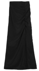 Diva shirred maxi skirt