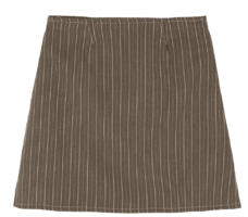 Low striped mini skirt