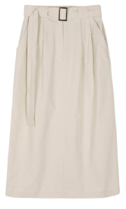 Ad belted maxi skirt