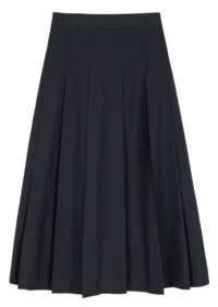 Innerf pleated banding maxi skirt