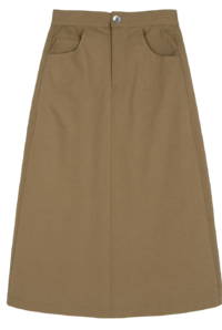 Base straight cotton midi skirt