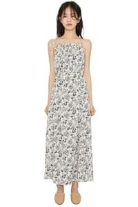 Sketch flower maxi dress