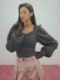 Square Ato Puff Knit