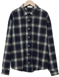 Ombre check overfit shirt