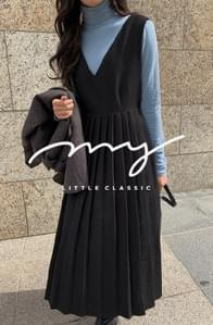 My-littleclassic/ Amelie V-neck pleated dress