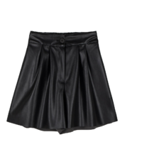 Fury Leather Pintuck Half Shorts