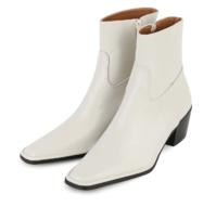 Stove middle-heel ankle boots 靴子