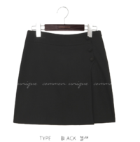 WRAP BUTTON PANTS SKIRT - 2 TYPE