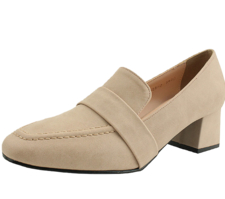 Classic Loafers Full Heel Middle Heel Skin Pink