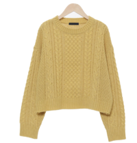Soi Cable Crop Knit