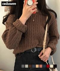 Erin cashmere cable knit