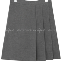 Front Pleat Accent Mini Skirt