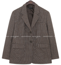 RUNT WOOL 40% CHECK SINGLE JACKET
