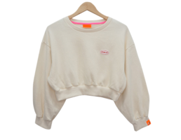 Cotton patch cropped sweatshirt