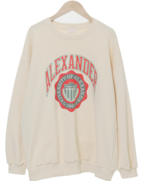 Alexander printing over fit sweat shirt