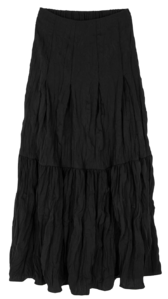Crease frill maxi skirt