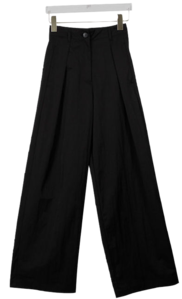 Pintuck tie back wide pants