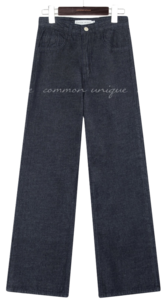 MOST WIDE INDIGO DENIM PANTS