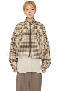 Newtro check bomber jacket