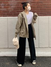 Cashmere knitted wide pants