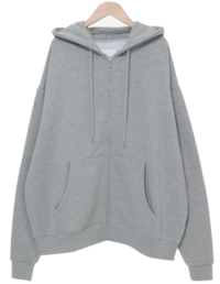 Uni Overfit Raised Hood Zip-up