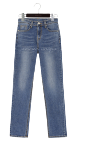 High Rise Washed Jeans