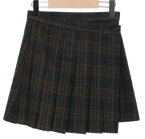 West Check Wool Mini Skirt