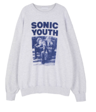 Unisex Sonic Youth Crew Neck Sweatshirt 長袖上衣