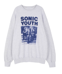 Unisex Sonic Youth Crew Neck Sweatshirt