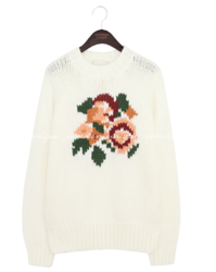 RONBER WOOL FLOWER BULKY KNIT