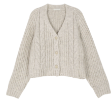 Hour twist pattern cardigan 開襟衫
