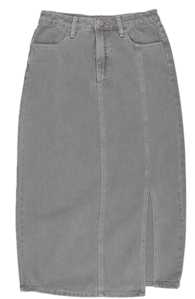 Bay Split Denim Long Skirt