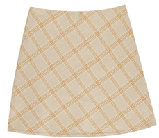 Hazel check skirt
