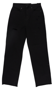 Damage Date Split Long Pants