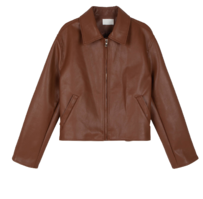 Fes zipped leather jacket