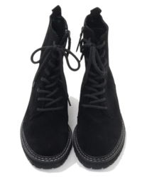 Suede lace-up walker boots