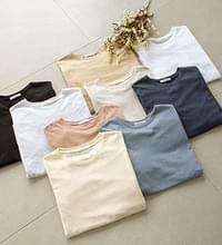 Basic T-shirt with a pretty fit #108479