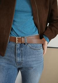 cow hide stud belt