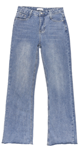 Bean straight denim pants
