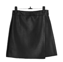 Leather diagonal unfooted skirt