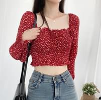Love smoking cropped blouse