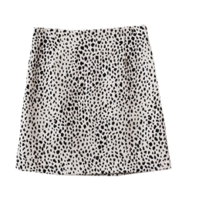 Mini leopard skirt