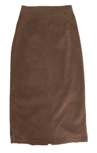 Corduroy banding long skirt-2color